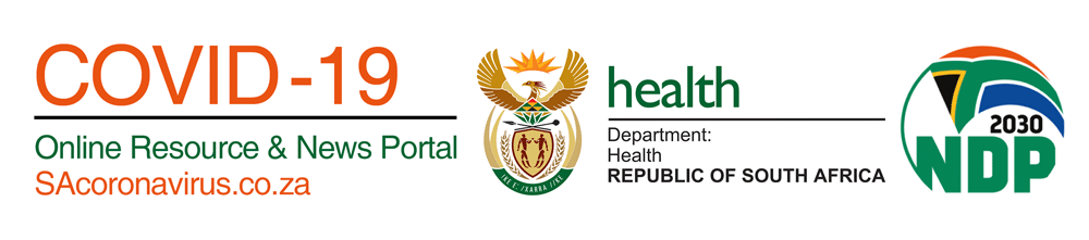COVID-19 Banner from the Department of Health South Africa